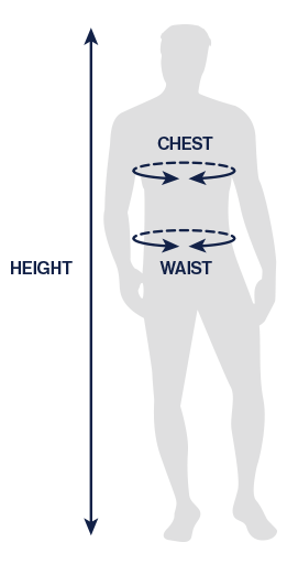 Body measurements-sleeve, chest, waist